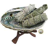 Indianisch schamanisch Räuchern 7-tlg Räucherset mit Salbei Zeder Beifuß + 16-20 cm Räuchermuschel + Zubehör +... preisvergleich bei billige-tabletten.eu