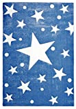 Livone Kinderteppich Happy Rugs Stars Navy blau/Weiss 160 x 230 cm