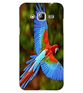 ColourCraft Beautiful Parrot Design Back Case Cover for SAMSUNG GALAXY J3