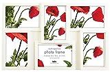 Innova PI04870 Maggiore 1 Bilderrahmen für mehrere Fotos, Kunstharz, 6 x 10 x 15cm, Weiß