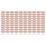WELLGRO Einmachgläser mit Schraubdeckel - 230 ml, 8,5 x 6,5 cm (ØxH), Glas/Metall, rot karierte Deckel To 82, Gläser Made in Germany, verschiedene Mengen wählbar, Stückzahl:100 Stück