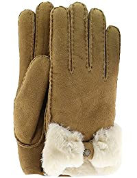 UGG174; Women's Sheepskin Bow Glove
