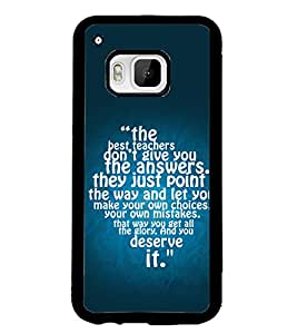 PRINTSWAG TEXT Designer Back Cover Case for HTC ONE M9