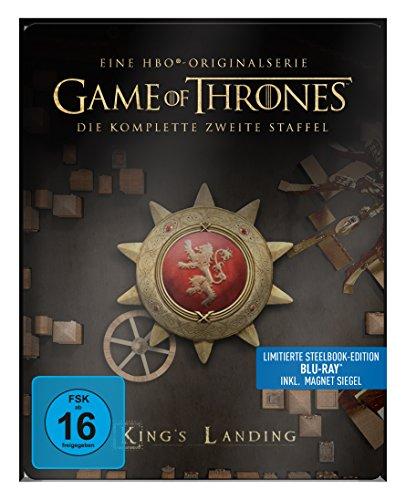 "game of thrones steelbook staffel 3 Game of Thrones - Die komplette 2. Staffel (Steelbook) – mit Magnet ""Siegel Haus Lannister"" [Blu-ray]"
