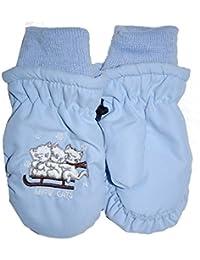 Outburst - Baby Girl Cat Mitten, bleu clair