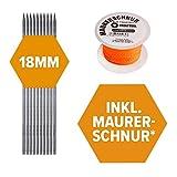 10 Schnureisen (18mm), Schnurnagel, Schnurpfahl, Schnurstange, Schnurpinne geschmiedet mit Spitze im 10er Pack