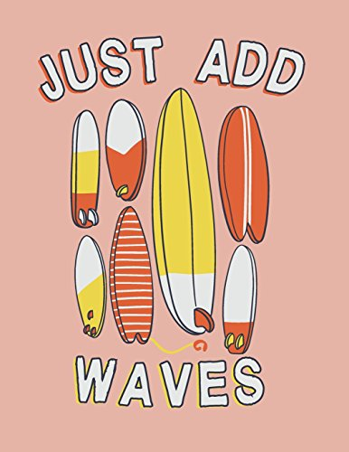 Just add waves: Surfboard collection on pink cover and Dot Graph Line Sketch pages, Extra large (8.5 x 11) inches, 110 pages, White paper, Sketch, ... Paint (Surfboard collection on pink notebook)