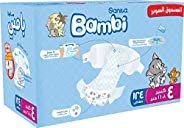 Sanita Bambi, Size 4, Large, 8-16 kg, Super Box, 124 Diapers