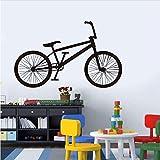 KUANGJING Wohnzimmer wandaufkleberKreative Fahrrad Applique Moderne tapete Garage Gym Wohnzimmer Dekoration Vinyl Aufkleber kleber wasserdicht abnehmbare 93.5x58 cm Test