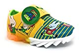 TeeniTiny LED Light shoes for kids - GREEN , BLUE & RED(12-18 months, 18-24 months & 2-2.5 years) (18-24 months, Yellow Green)