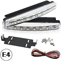 PLC020 - Luces diurnas LED para coche, 5050SMD, R87, E4, autorizadas por la legislación alemana de circulación (StvzO)