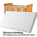 Nueva Nursery Baby acolchado y transpirable Cradle/Pram/Swing/cuna/cuna colchón cuadrado esquinas blanco roto blanco Talla:90x40x4 cm
