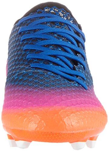 adidas Messi 16.1 Fg J, pour les Chaussures de Formation de Football Mixte Enfant Bleu (Blue / Ftwr White / Solar Orange)