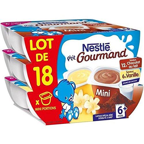Nestlé p'tit gourmand vanille+chocolat lot de 18x60g - ( Prix Unitaire ) - Envoi Rapide Et Soignée