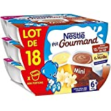 Nestlé p'tit gourmand vanille + chocolat x60g - ( Prix Unitaire ) - Envoi Rapide Et Soignée