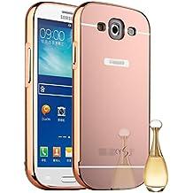 Funda Espejo Aluminio Metal Carcasa para Samsung Galaxy S3 SIII i9300/S3 Neo i9301 Color Rosado
