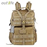 Zorbes Outlife 068 45L Large Capacity Molle Tactical Backpack