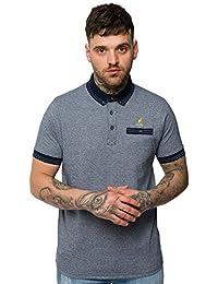 "Kangol - Polo T-Shirt Homme Surpiqué Coton ""Joshua"" Col Double Pointe Manche Courte Neuf"