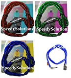 72cm Bike Combination Lock Bicycle Cycle Spiral Combination Lock Red Green Blue - Assorted