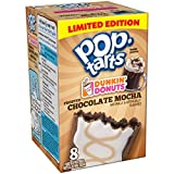 Kelloggs Pop Tarts Dunkin Donuts Frosted Chocolate Mocha Toaster Pastries 8 Pack 400g Box