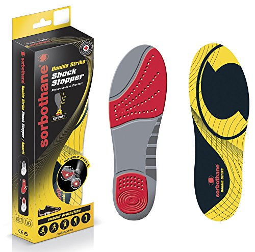 Sorbothane Einlegesohlen Single Double Full Strike Orthopädische Foot Care Pro Sport, 7 (Full Sport Foot)