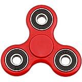 Lalang Spinner Fidget Jouet Tri Fidget Hand Spinner Pour Adultes Enfant (Rouge)