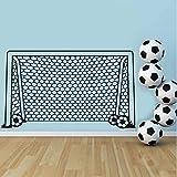 Cmdyz Fußball Fußball Tor Net Ball Sport Wandtattoo Vinyl Decor Kunst Wandaufkleber Für Jungen Zimmer Kinder Kindergarten Wohnkultur Wandbild