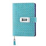 Notizbuch aus Leder Notizbuch Record Tagebuch mit Schloss,Schreiben Notizblock für Frauen Mädchen und Jungen TPN104- Blau