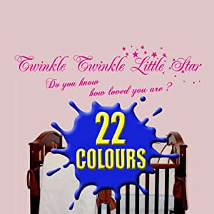 Twinkle Twinkle little star do you know how loved you are - Nursery Wall Quote (Medium)