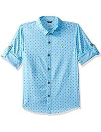 Allen Solly Boys' Floral Slim Fit Shirt
