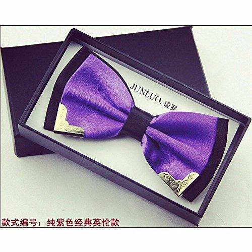 lpkone-Men's Bow tie bow mariage de style britannique Violet