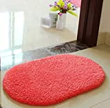 #5: Imported And New Akira 40 * 60 CM Creative Anti Slip Foam Bedroom Room Floor Mat Rug (Red)