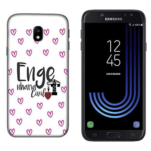 Hülle Galaxy J7 2017 Case Samsung Galaxy J7 2017 Fakultät der Universität Bauingenieurwesen/Cover Druck auch an den Seiten/Anti-Rutsch Anti-Rutsch Anti-Scratch Schock-resistenten Schutz Schutzu