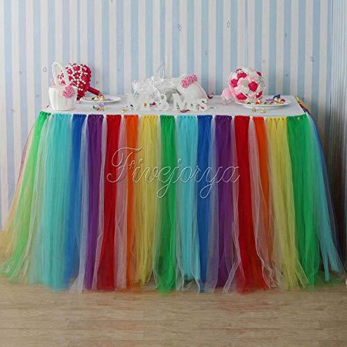 l Tüll Tutu Table Rock 100 cm x 80 cm für Hochzeit Gefälligkeiten Partei Baby Dusche Dekoration textil ()