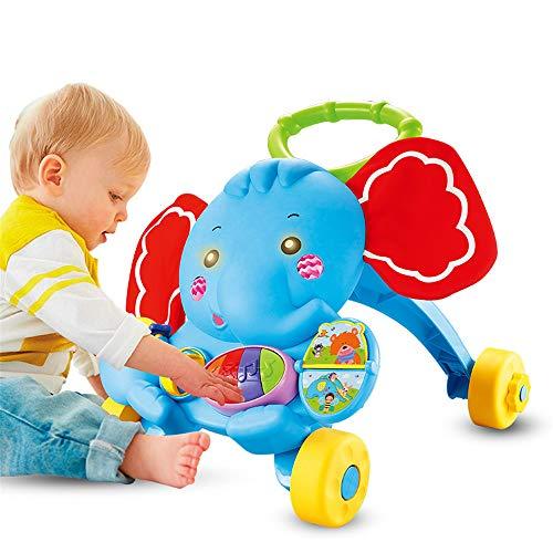 LVYE1 Andador De Bebé Multifuncional Caminante De Elefantes con Musica Carrito De...
