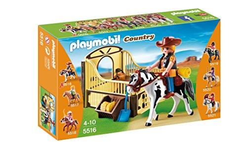 Playmobil Coleccionables - Caballo de rodeo con establo (5516)