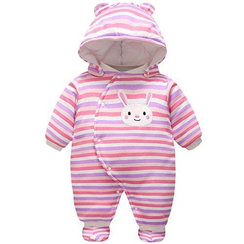Vine Baby Overalls Strampler Schneeanzüge Mit Kapuze Winter Outfits Mit Stiefeln, Rotes Kaninchen 9-12 (Roten Kostüme Stiefel Die)