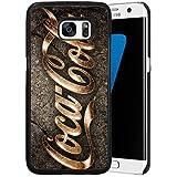 Coca Cola Logo Design Coque Etui Case for Samsung Galaxy S7 Edge Coca Cola , Logo Galaxy S7 Edge Coque Case Brand Mark Black TPU Silicone Protector Phone Cover for Woman