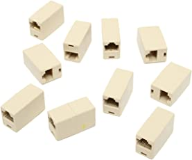 Generic Wholesale Popular 10Pcs RJ45 Cat5e Straight Network Cable Ethernet LAN Coupler Joiner Female To Female Connector
