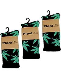 "3x Plantlife Socken ""Hanf"" Socks in universeller Größe, Unisex"
