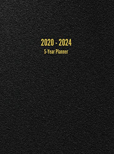 2020 - 2024 5-Year Planner: 60-Month Calendar (Black)