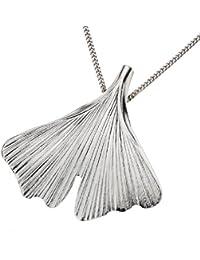 "Zeeme Silver - 500240768 - Collier Femme - Pendentif ""Gingko"" - Argent 925/1000 - 45 cm"