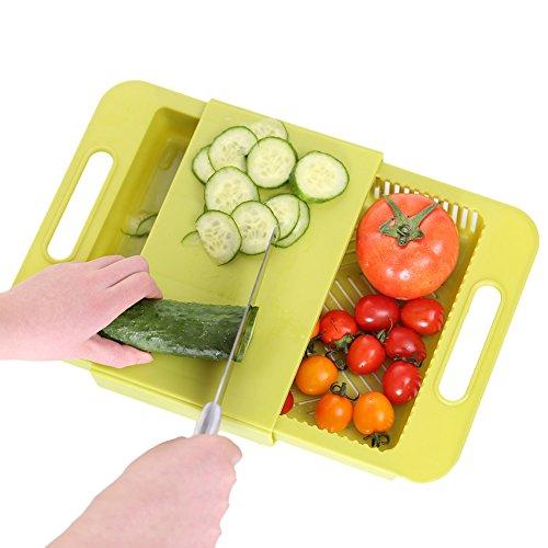 THEE Multifunktion Schneidebrett Sieb Küche-Werkzeug-Fach-Speicher Chopping Block Chopping Block