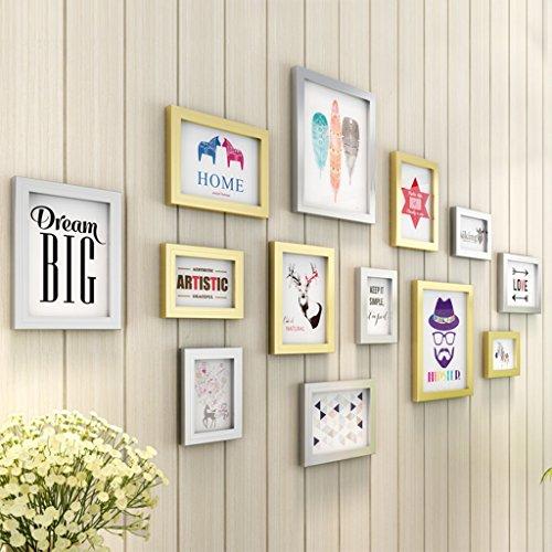 Rahmen, Bilderrahmen, 13-teilig/Rahmen Wall Set Album Wandtattoo, Boden von Wand kostenlos Punch–Gallery Wall Frame Set 4#