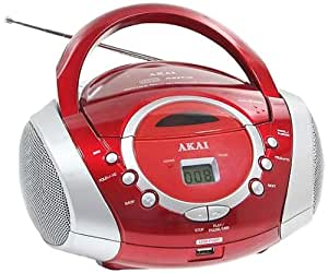 Akai -Radio CD/MP3 USB Orange et Blanc AJ-P6420WU