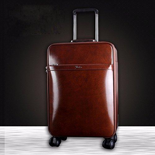 hoom-valise-valise-trolley-en-cuir-bagages-embarquement-rouletteh37l38w20-cm-marron