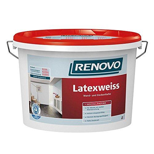 Latexweiss Latexfarbe 10 L Hochglänzend Renovo Wand Deckenfarbe