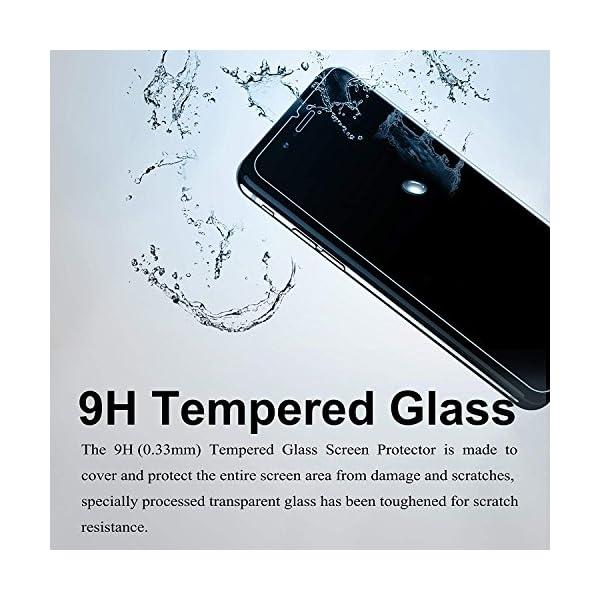 Ramcox Protector de Pantalla para Huawei Honor 8C, Alta Sensible Vidrio Templado Protector de Pantalla Compatible con 3D… 3