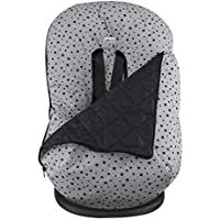 Kutnik Saco de abrigo universal polar para silla de coche Negro y crema