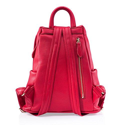 Barbie Zaino da Donna Ragazza Bambina dallo stile morbido in PU, Colore Rosa, Nero, 31x17x35CM#BBBP061 Rosa